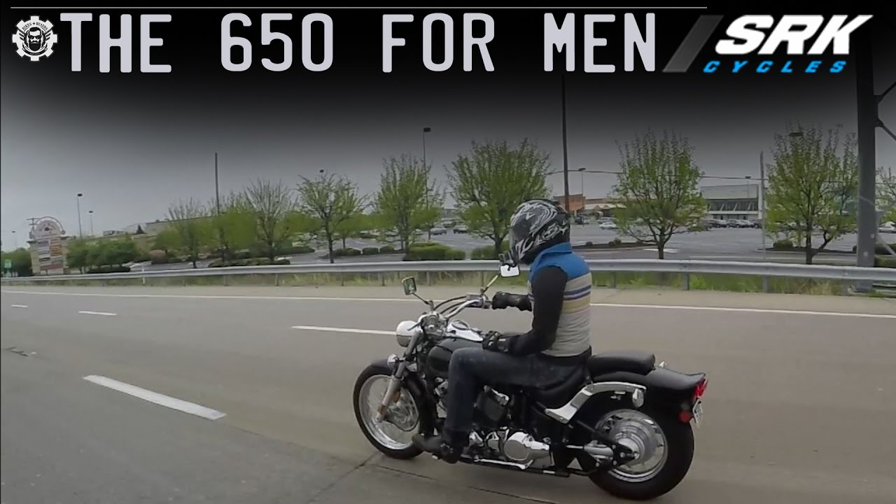 Is the V star 650 big enough for a man? (highway)