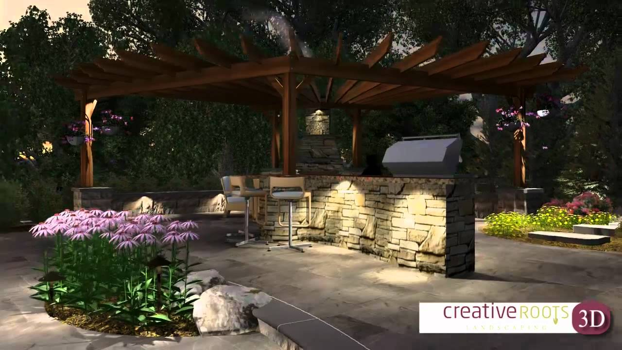 3d landscape hardscape design client marketing video for 3d landscape design