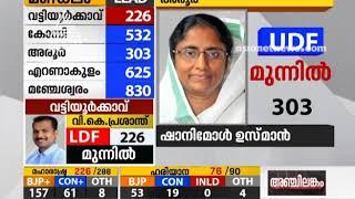 Shanimol Usman leads at Aroor   Kerala Bypoll results 2019