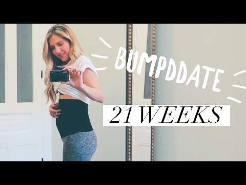 Bumpdate 21weeks + baby pictures!