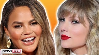 Download Chrissy Teigen DEFENDS Taylor Swift From Pregnancy Troll! Mp3 and Videos
