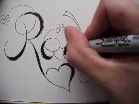 Copperplate Writing Name Rachel Tattoo Design Accepted Youtube