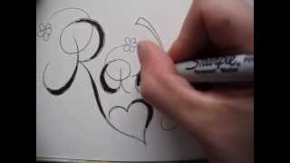 Copperplate Writing Name Rachel   Tattoo Design   Accepted Youtube Request
