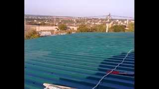 Крыша из профнастила своими руками.(, 2012-11-22T21:56:18.000Z)