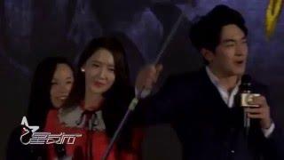 160330 소녀시대 _윤아_Yoona 丨God Of War Zhao Zi Long_ 少女时代 林允儿&林更新武神赵子龙开播首映礼