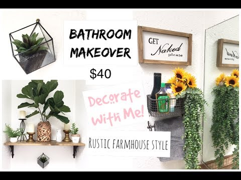 Small Bathroom Makeover | Decorate with Me | Boho Farmhouse Style