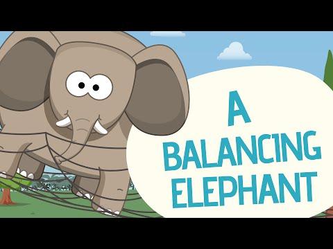 A Balancing elephant - Nursery rhymes - Toobys