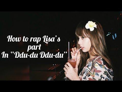 "Lisa's Blackpink rap tutorial ""Ddu - du Ddu-du"" (With easy lyrics)"