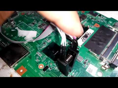 how to flash bios chip with internal programmer ( part 3 ) - YouTube