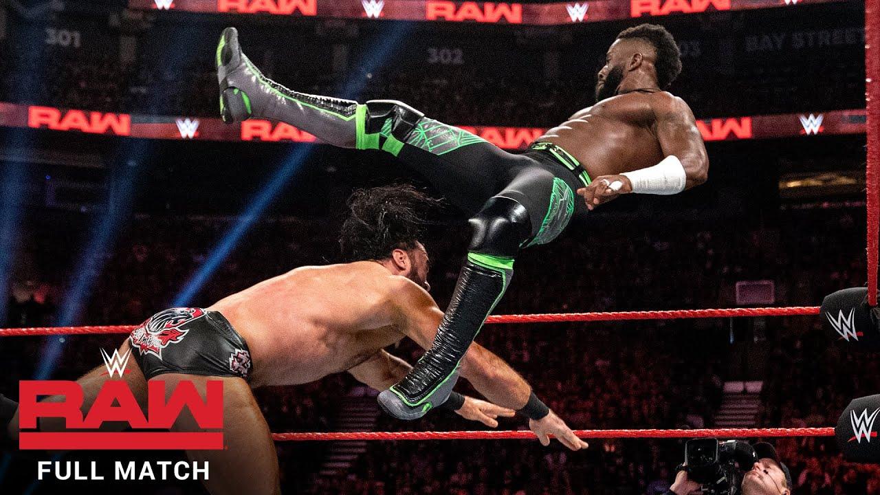 FULL MATCH - Cedric Alexander vs. Drew McIntyre: Raw, Aug. 12, 2019