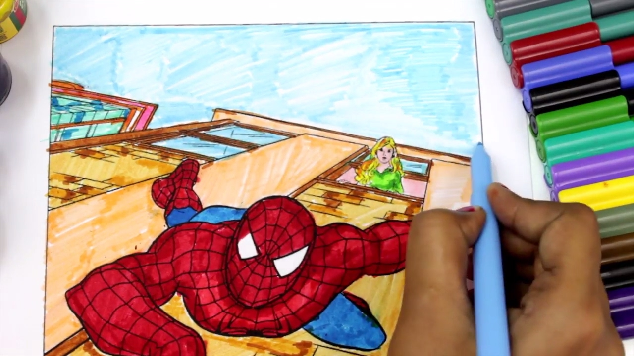Watercolor books for kids - Spiderman Coloring Pages For Kids How To Color Spiderman Coloring Books