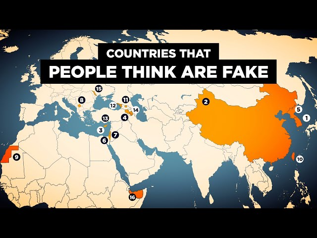 The 15 Countries People Think Are FAKE