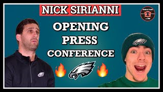 Today, nick sirianni had his introductory press conference with the philadelphia eagles.he discussed a variety of topics including carson wentz vs jalen hurt...