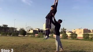 how to do a back flip by hassan ramzy تعاليم حركت الباك فلب