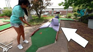 YOU HAVE TO SEE THIS AWESOME OLD SCHOOL MINI GOLF COURSE! | Brooks Holt