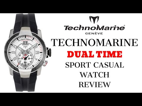 TechnoMarine Dual Time Sport Casual 200m Men's Watch Review (4K)