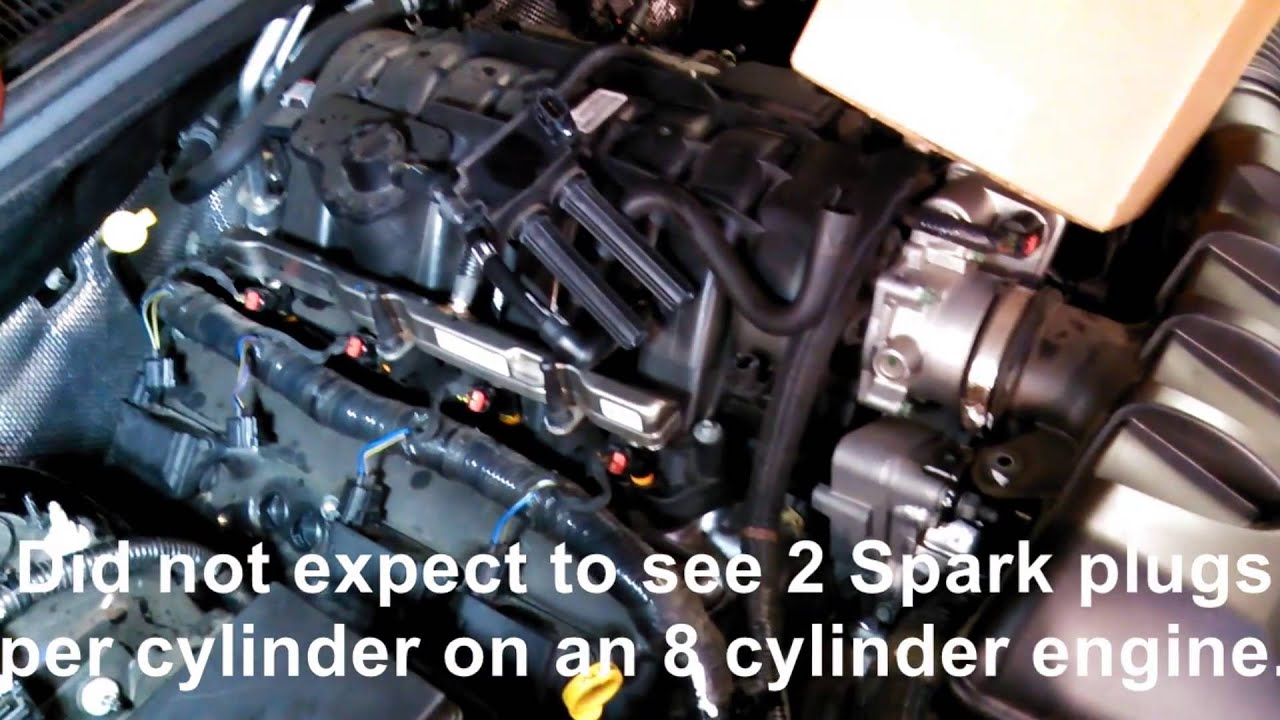 2 spark plugs per cylinder 2004 2013 dodge 5 7l v8 for tuneup spark plug replacement [ 1280 x 720 Pixel ]