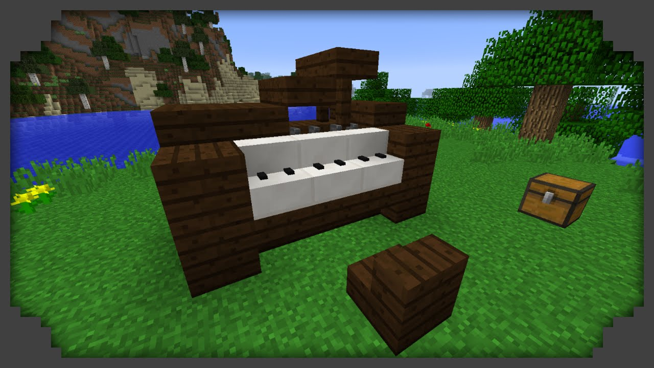 Minecraft - How to build a piano - YouTube