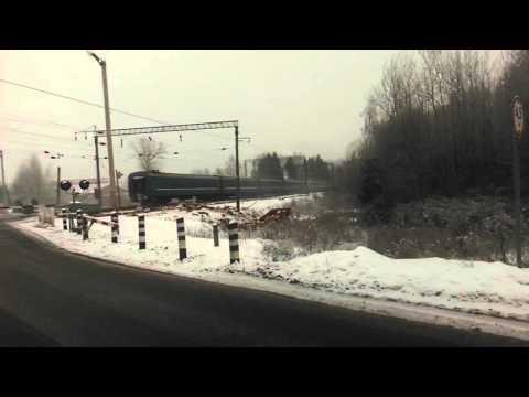 ДТП в Дзержинске   на Переезде 05.01.2016 Dzerzhinsk accident at the crossing 05.01.2016