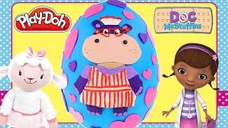 Mega Play Doh Doc Mcstuffins Giant Hallie Surprise Egg! Disney Junior Playdough Toy Egg By Dctc