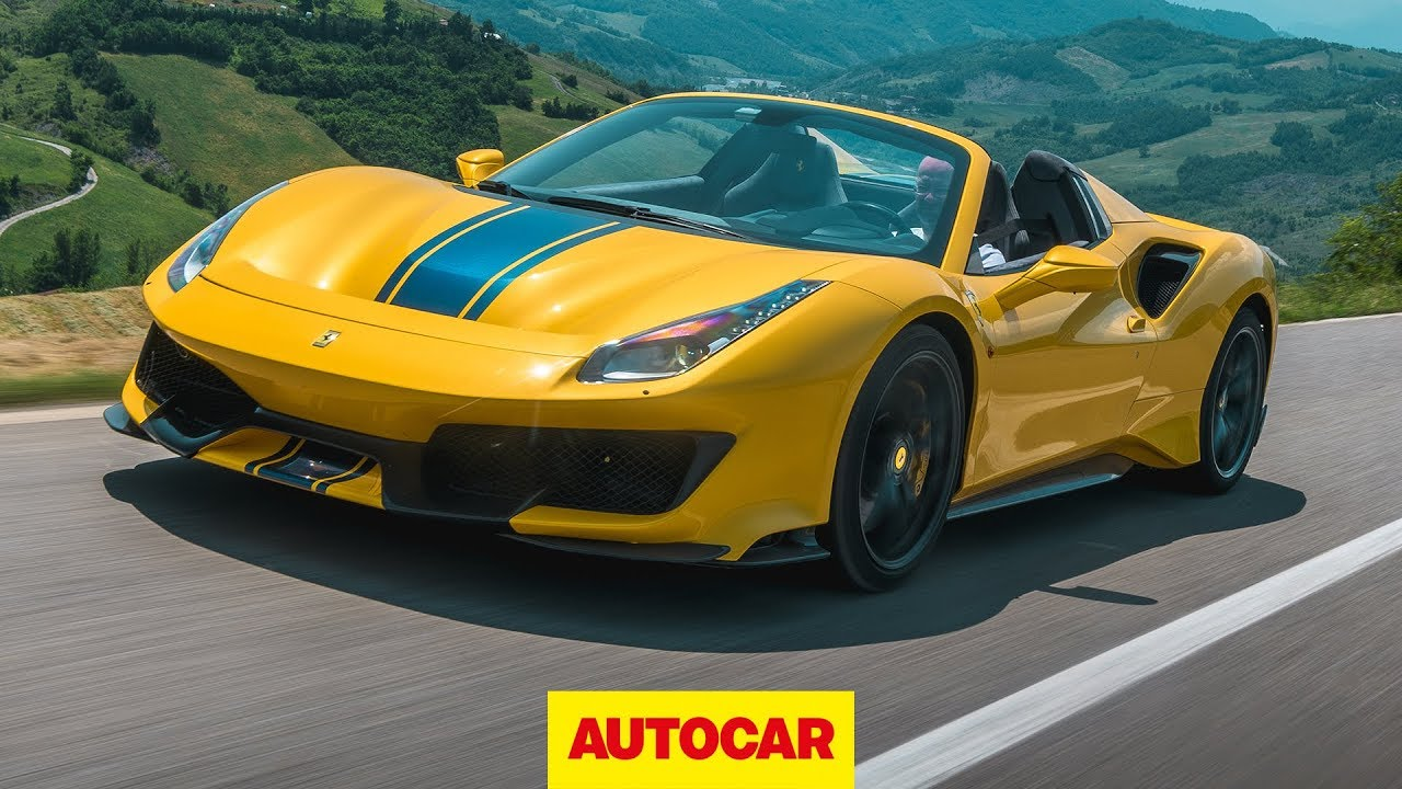 2019 Ferrari 488 Pista Spider Review The Best Convertible Supercar Autocar Youtube