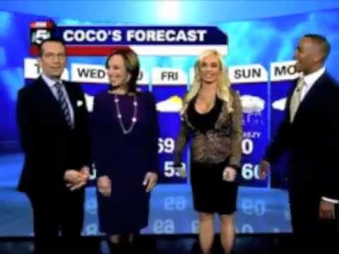 Mike Woods has Coco give the weather forecast on Good Day New York