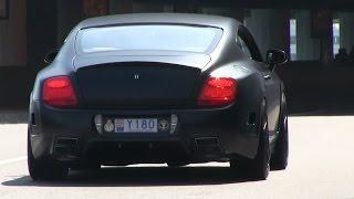 Matte-Black Mansory Bentley Continental GT in Monaco