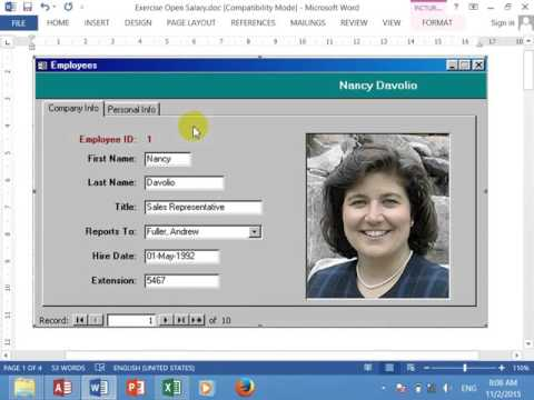 How to Create form Employee 2