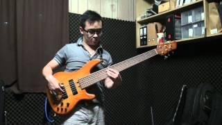 my yamaha 6 string bass slap and pop improvise