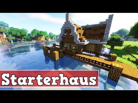 Wie baut man ein Starter Haus in Minecraft | Minecraft Starterhaus bauen deutsch