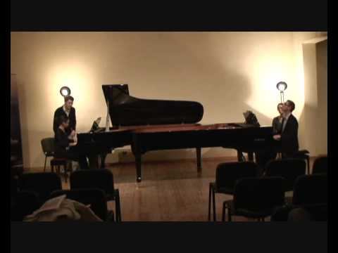 Prokofiev - Cinderella (4/5 Gallop) - Macha Kanza and Matthieu Cognet, pianos
