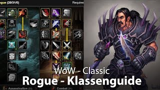WoW Classic - Rogue Klassenguide (Deutsch / German)