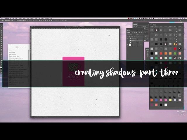 4 different ways to add Shadows on your Scrapbooking Elements PART THREE