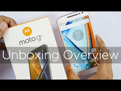 Moto G4 Smartphone Unboxing Overview & first looks
