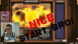 Hearthstone Arenas - Amaz playing Paladin arena with Ragnaros!