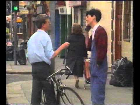 """Mike Murphy Candid Camera the """"clamped"""" bicycle."""