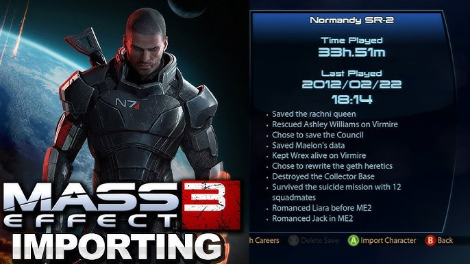 Mass Effect 3 - Importing a Character