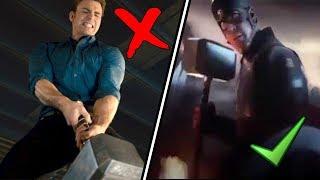 Por que Capitan America levanta el Martillo de Thor  en ENDGAME  y NO en Era de Ultron.