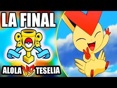 ¡ALOLA VS TESELIA! ¡FINAL DEL TORNEO! ¡El Baile de la Victoria! Torneo de Regiones down Pokémon