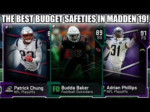 THE BEST BUDGET SAFETIES IN MADDEN 19! BEST BUDGET FS AND SS! | MADDEN 19 ULTIMATE TEAM