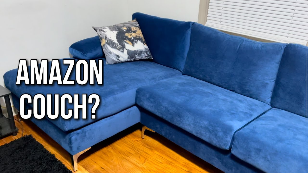 Download Unboxing A Sofamania Sectional Blue Couch / Amazon Review