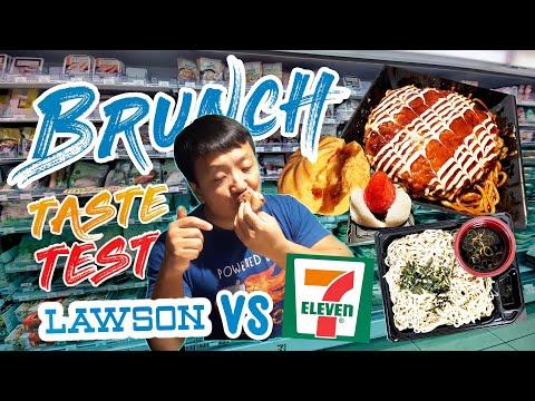 LAWSON vs 7-ELEVEN Japanese CONVENIENCE STORE Brunch Taste Test