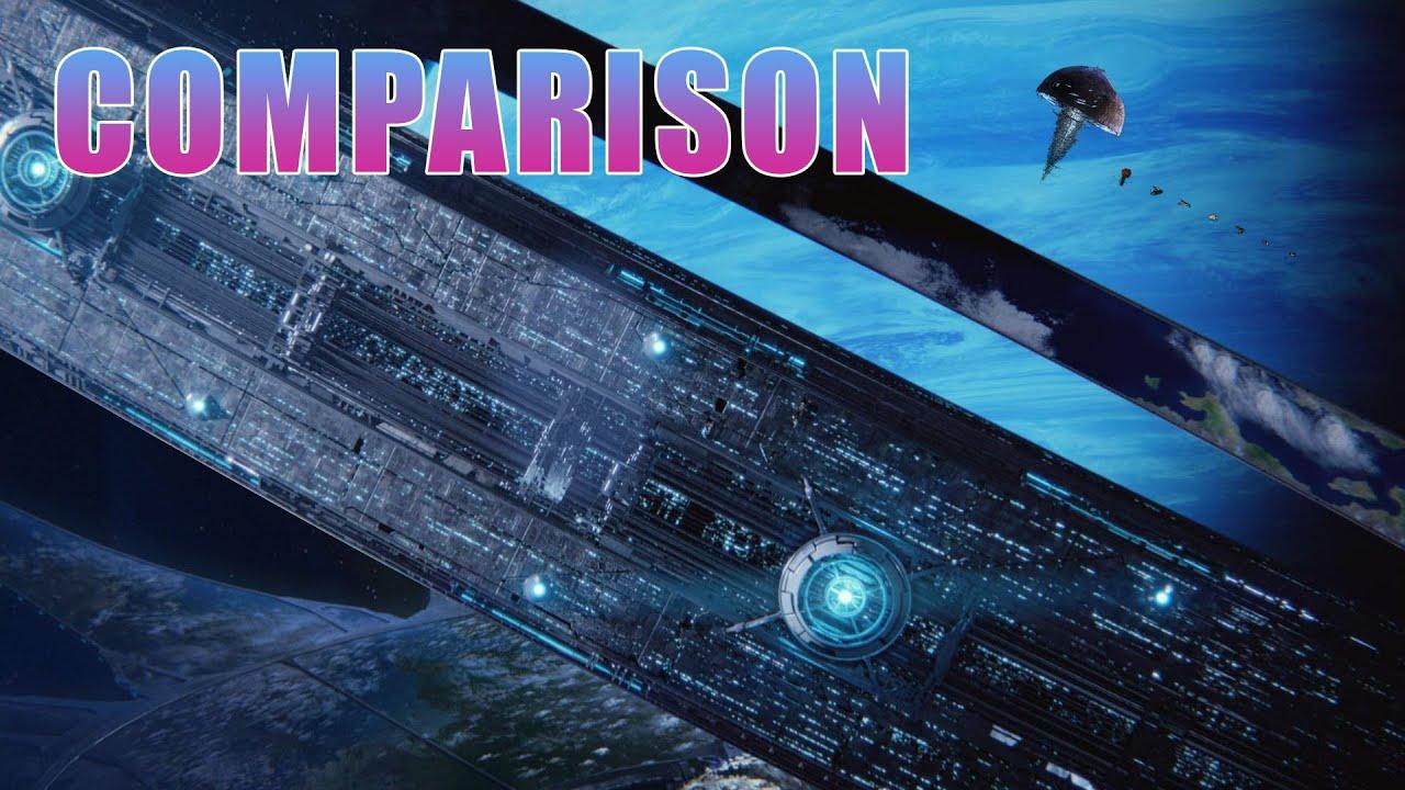 Ship size comparison - Video Games - YouTube
