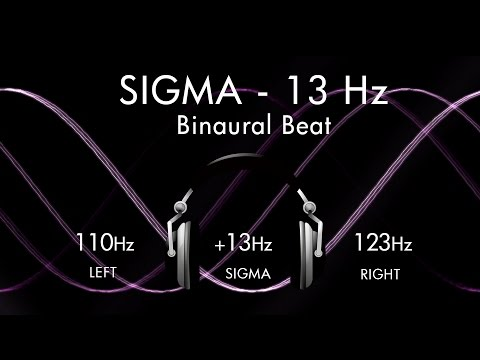 Consciousness on The Sigma Wave - 1hr Pure Binaural Beat Session at ~(13Hz)~ Intervals