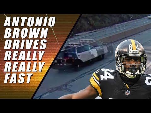 Antonio Brown 100 MPH Speeding Ticket (footage)