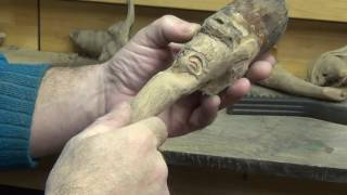 How to Carve a Wood Spirit Goblin 5. (carving)