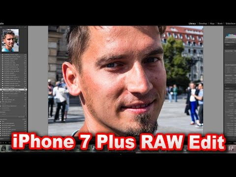 How to edit RAW files shot on your iphone 7, 7plus and 6