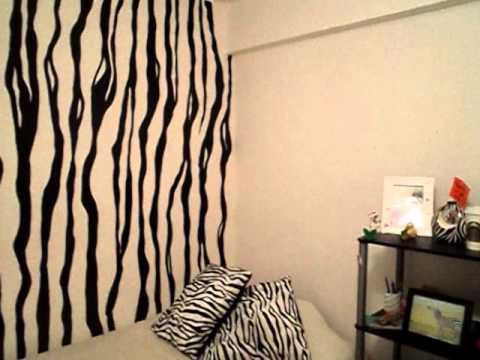 Habitaci n dise o cebra zebra room design youtube for Recamaras pintadas