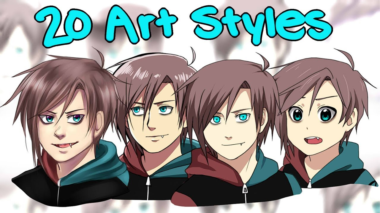 20 Art Styles Challenge [mostly Anime]