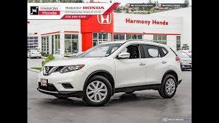 2016 Nissan Rogue S - Harmony Honda - White - U6390 - Kelowna, BC